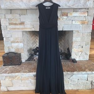 Diane Von Furstenberg Floor Length Black Gown